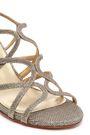 STUART WEITZMAN Turning Up textured-lamé sandals
