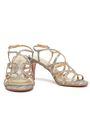 STUART WEITZMAN Textured-lamé sandals