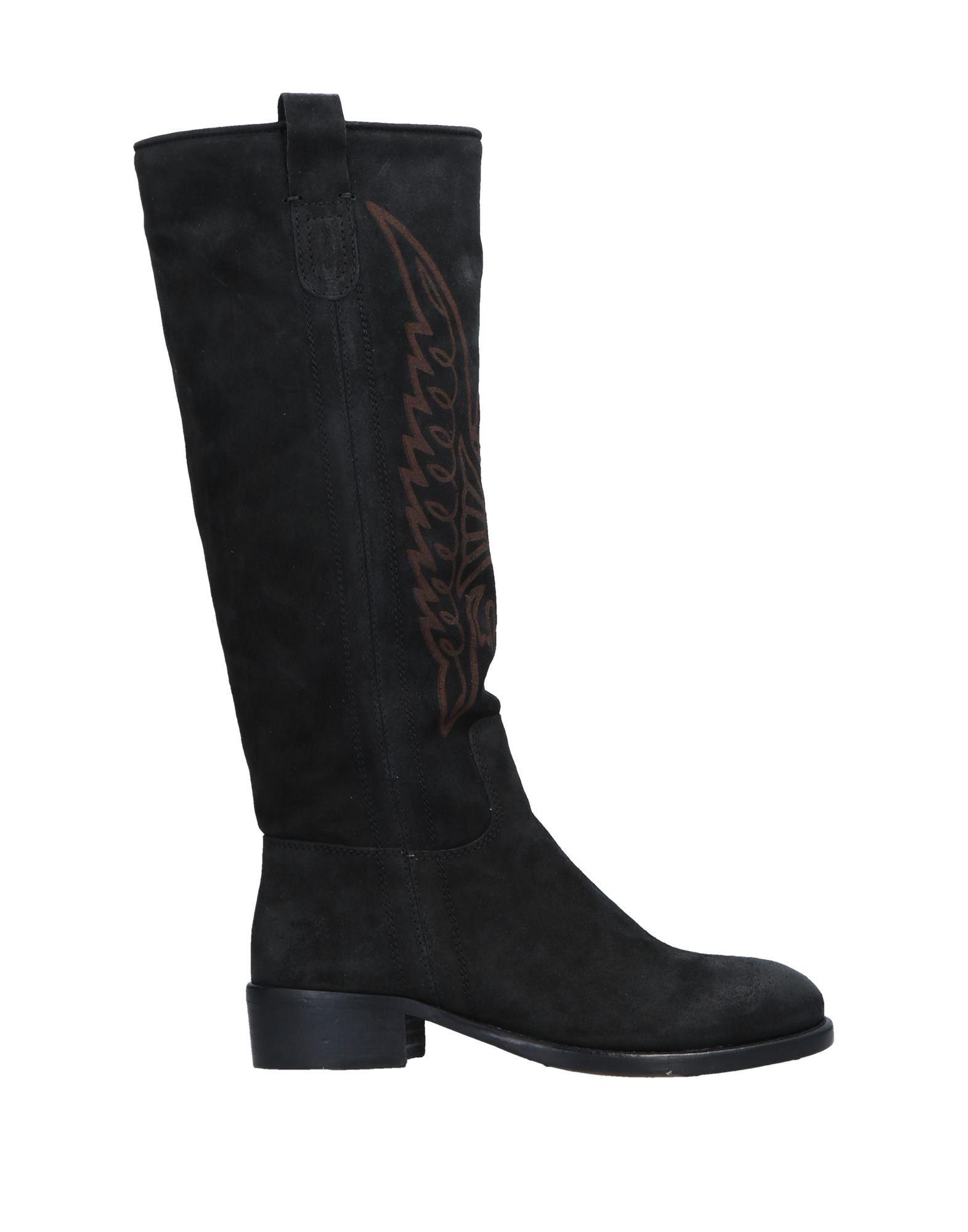 《期間限定セール中》EL CAMPERO レディース ブーツ ブラック 35 牛革 100%