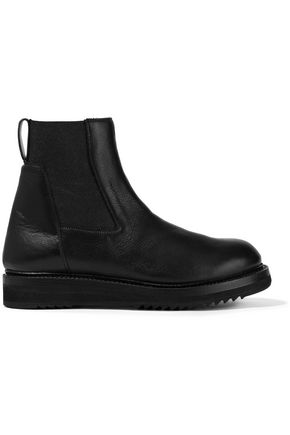 RICK OWENS Textured-leather ankle boots