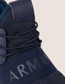 ARMANI EXCHANGE HIGH-TOP-SNEAKERS AUS SPORTLICHEM STRICK MIT ELASTIKBAND Sneakers Herren a