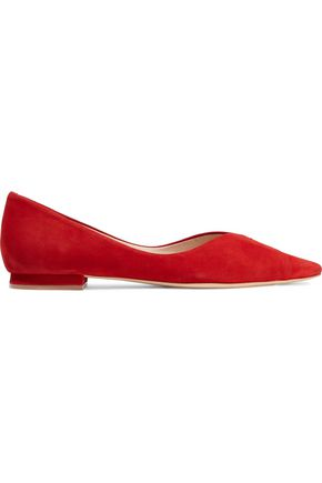 SCHUTZ Sasha nubuck point-toe flats