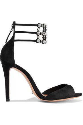 SCHUTZ Jenny crystal-embellished suede sandals