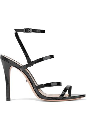 SCHUTZ Ilara metallic-leather sandals