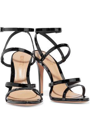 8485777bcdd2 ... SCHUTZ Ilara metallic-leather sandals ...