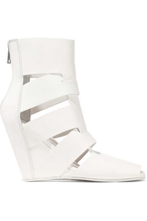 RICK OWENS Lazarus cutout leather ankle boots