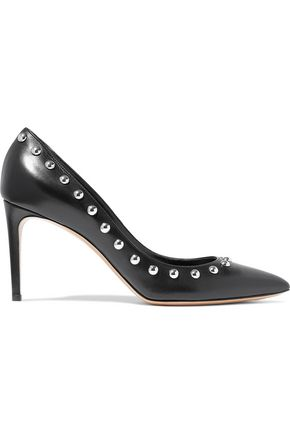 CASADEI Vittoriale studded leather pumps