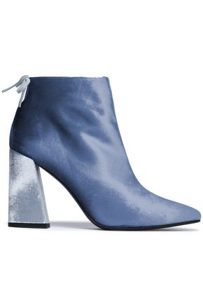 STUART WEITZMAN Bow-detailed velvet ankle boots