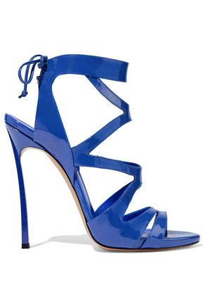 CASADEI Infinity cutout patent-leather sandals