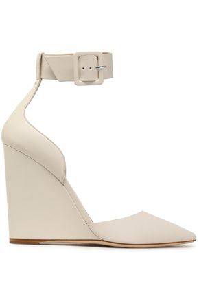 ROBERTO CAVALLI Leather wedge sandals