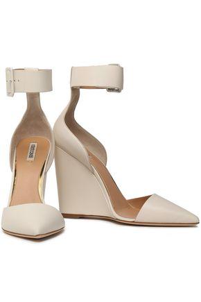 ROBERTO CAVALLI Leather wedge sandals