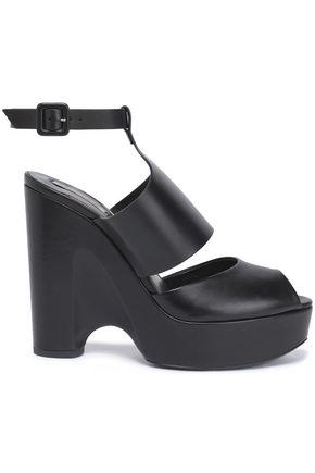ROBERTO CAVALLI Leather platform sandals