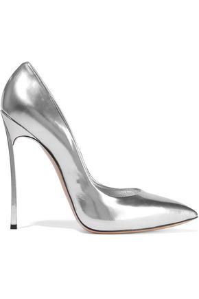 Blade Mirrored Leather Pumps by Casadei
