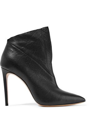 CASADEI Textured-leather ankle boots