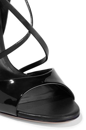 CASADEI Snake-effect, smooth and patent-leather sandals