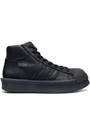 RICK OWENS x ADIDAS Mastodon Pro leather high-top sneakers