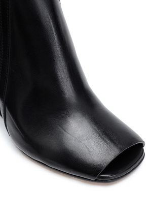 RICK OWENS Glossed-leather ankle boots
