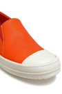 RICK OWENS Leather slip-on sneakers