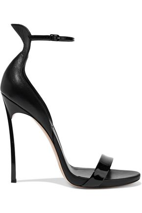 CASADEI Techno Blade matte and patent-leather sandals