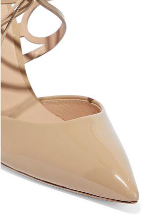 CASADEI Laser-cut patent-leather pumps