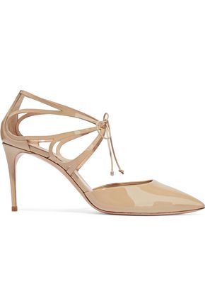 CASADEI Laser-cut patent-leather pumps