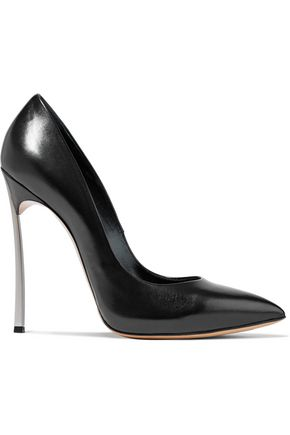 CASADEI Blade glossed-leather pumps