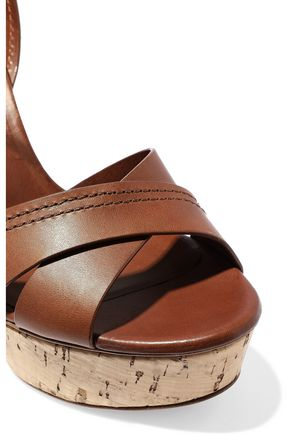 fa9e94e6843 ... CASADEI Ranger leather platform sandals ...