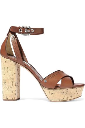 CASADEI Ranger leather platform sandals