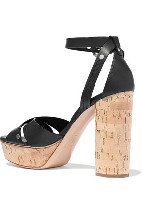 0260c591da1 ... CASADEI Ranger leather platform sandals