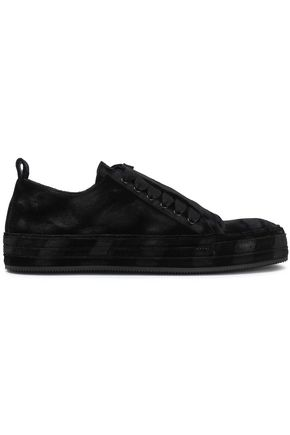 ANN DEMEULEMEESTER Velvet sneakers