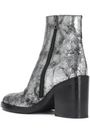 ANN DEMEULEMEESTER Metallic cracked-leather ankle boots