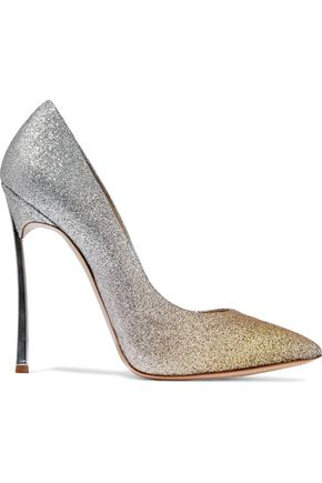 CASADEI Dégradé glittered leather pumps