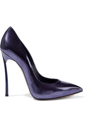 CASADEI Metallic patent-leather pumps