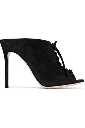 GIANVITO ROSSI Deena lace-up suede mules