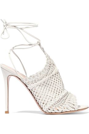 GIANVITO ROSSI Woven leather sandals