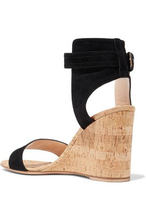 GIANVITO ROSSI Rikki suede wedge sandals