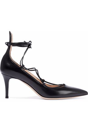 GIANVITO ROSSI Lexi lace-up leather pumps