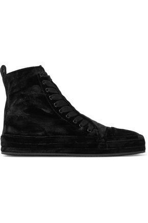 Velvet High Top Sneakers by Ann Demeulemeester