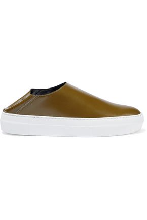TIBI Charlie leather collapsible-heel sneakers