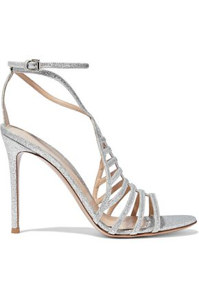 GIANVITO ROSSI Glittered leather sandals