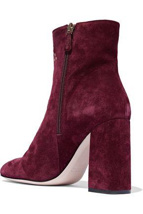 RED(V) Eyelet-embellished suede ankle boots