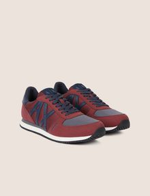 ARMANI EXCHANGE SNEAKERS LOW-TOP IN MIX DI MATERIALI CON LOGO Sneakers [*** pickupInStoreShippingNotGuaranteed_info ***] r
