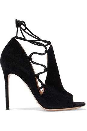 GIANVITO ROSSI Lace-up suede pumps