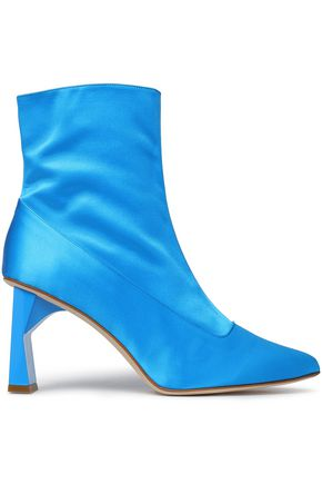 TIBI Satin ankle boots