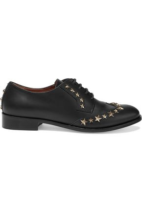 REDValentino Studded leather brogues