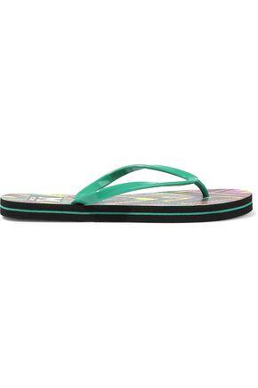 M MISSONI Printed rubber flip flops