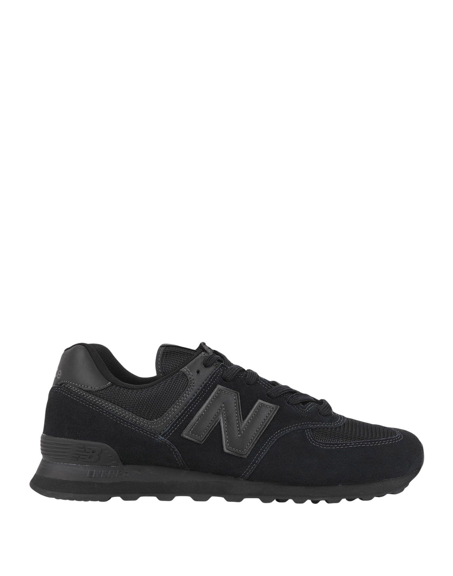 《セール開催中》NEW BALANCE メンズ スニーカー&テニスシューズ(ローカット) ブラック 5.5 革 / 紡績繊維 574 Winter Suede Mesh