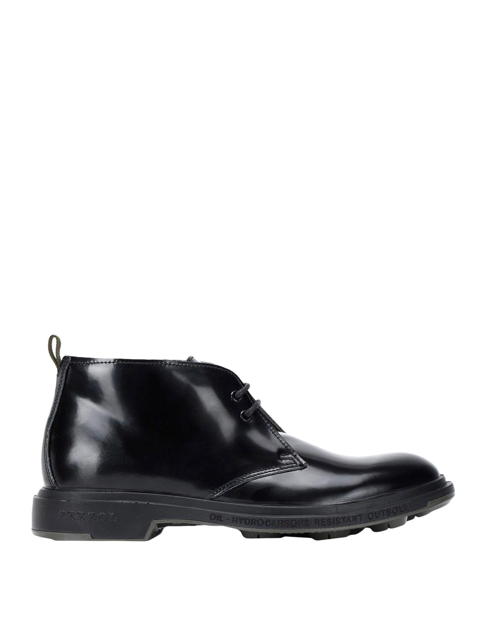 《セール開催中》PEZZOL 1951 メンズ ショートブーツ ブラック 40 革 100%