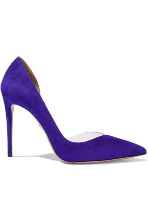 Woman Eclipse 105 Suede And Pvc Pumps Purple