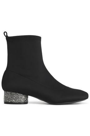 DONNA KARAN Embellished stretch-knit sock boots